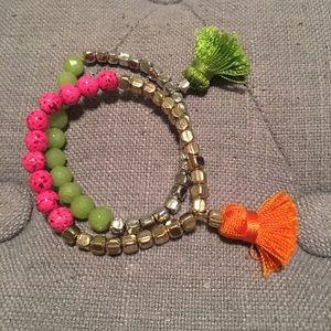 Tasseled bracelets
